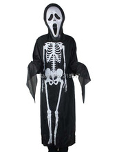 Halloween costume Halloween costume skeleton ghost clothes + skull devil mask D-1537