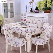 vezon Hot Elegant Linen Embroidery Floral Cotton Lace Tablecloths Delicate Embroidered Flower Table Cloth Towel Cover Overlays(China)
