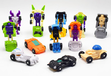 2.5x5.5CM Arrival 12Pcs/lot Mini Transformation Robot car Model Deformation Cars Transform action Figures Toys Figure anime(China)