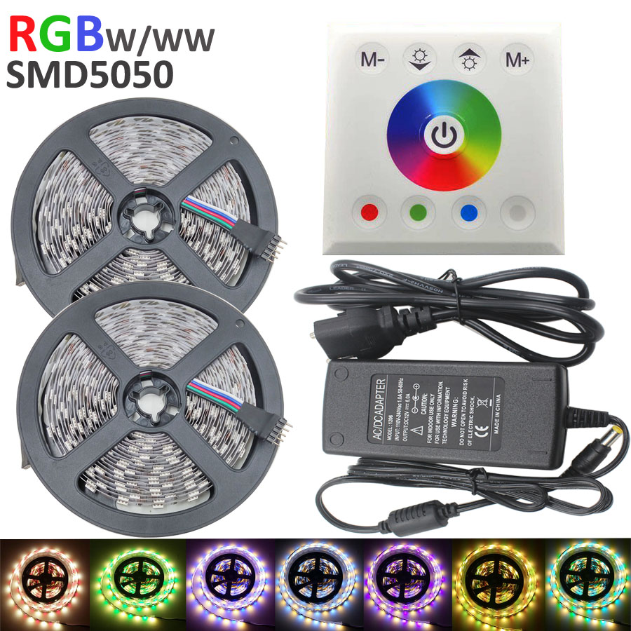 10m RGBW/RGBWW 5050 Led Strip Light 60leds/m Non waterproof Flexible SMD Strips Lighting +led touch controller+6A Power adapter<br><br>Aliexpress