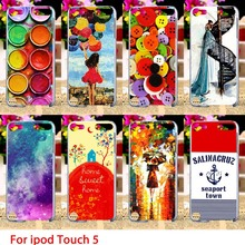 Soft TPU Cases For Apple iPod Touch 5 5th 5G Touch 6 6th Colorful Painted Hard Cell Phone Cover Housings Bag Sheaths Skins Hoods