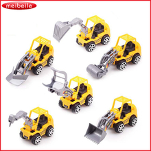 Free Shipping 6pcs/Lot Yellow Color Toy Truck Models Mini Toys Construction Trucks For Kids juguete(China)