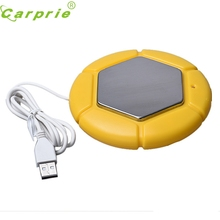 Top Quality Yellow Computer USB Warmer Exquisite USB Powered Portable Cup Mug Warmer Coffee Tea Heater Tray Pad A28