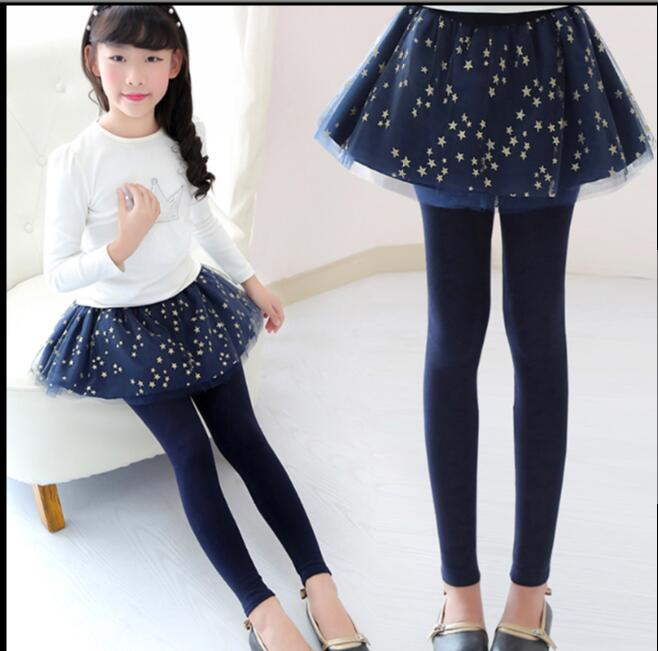 Spring Autumn 18 New Girls Leggings Girls Skirt-Pants Kid Pants Fashion Cake Skirt Girl kids Leggings Trousers Leggings Pants 5