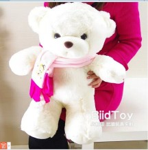 55 cm white teddy bear plush toy scarf bear doll gift w4159(China)
