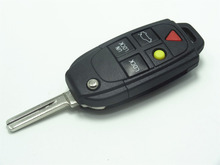 1pc New replacement case for Volvo S40 V40 S60 C70 V70 S80 5 Button CONVERSION SET Folding Key and FOB