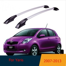 For Toyota Yaris 2007 -2013 roof racks Aluminum roof boxes easy install Without drilling Luggage rack AUTO refit
