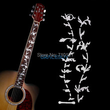 Tree Of Life Guitar Bass Fret Sticker, DIY sticker on guitar neck - beautiful vine plant design Instrumentos Musicais(China)