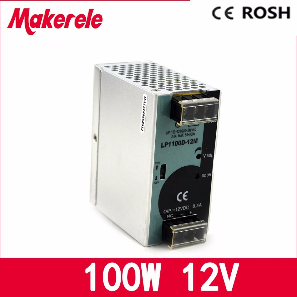 12vdc 8.3A 100w LP-100-12 Din-rail switching power supply ac-dc 12 volt power supply free shipping led driver<br>
