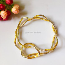 Manufacture 5mm 90cm DIY Silver & Iron Bendable Flexible Bendy Snake Necklace,10pcs/pack(China)