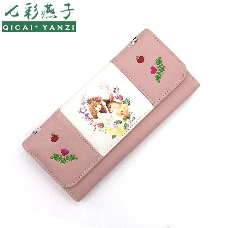 QICAI.YANZI Women`s Long Coin Purse Large Capacity...