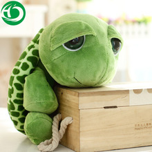 20 cm New arriving Green Big Eyes Turtle dolls Cute Soft plush Tortoise high quality Funny Stuffed Animal Toy Gift for kids(China)