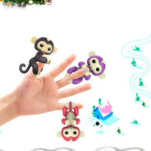 Christmas Colorful Finger Baby Interactive Pet Monkey Monkey Robotic Child Intelligent Toys For Kids Children Gift(China)