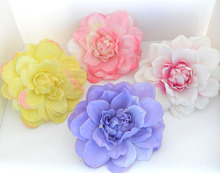 5 PIECES Artificial Dahlia Silk Flower Heads for Wedding Headband Corsage Brooch wedding decoration B72