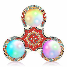 2107 New Finger Spinner Court Pattern LED Light Fidget Hand Spinner Stress Relief Manipulative Play Toy Gags & Practical Jokes(China)