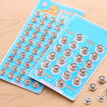 Concealed Metal Snap Clasp Buttons Invisible Coat Buttons for children clothes Black silver sewing accessories