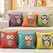 New 5 Style 5 colors owls Cushions Rushed Chair Home Car Seat Decorative  Cartoon Of The Cushion Chair pillow HOT  A-11