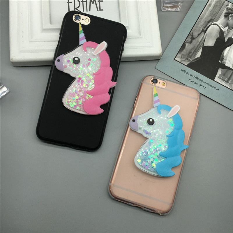 3D Unicorn Quicksand Liquid Soft Silicone Case For ASUS Zenfone 2 ZE551ML ZE550ML Z008D Z00AD Z00ADA Z00ADB Phone Cover Cartoon