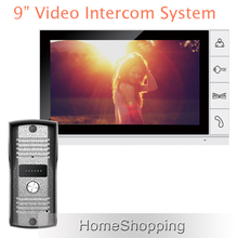 Brand New Wired 9 inch White Screen Home Video Intercom Door Phone System + Night Vision Outdoor Camera In Stock Free Shipping