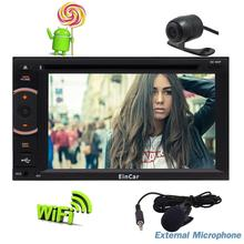 Rear Camera + Octa-Core Android 5.1 Car Stereo Double Din Car DVD CD Player Navigation Support HD 1080P SWC WIFI External Micro