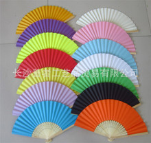 DIY Luxurious Fold Paper Fans Bamboo Ribs Craft Fan For Party & Wedding Decoration Favors Gifts Bride Hand Fan 16 Colors, 200pcs(China)