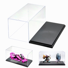 1pcs Building Blocks Clear Acrylic Plastic Single Black Display Box Case Protector Model Toys Dustproof Large Size 26*13*13cm(China)