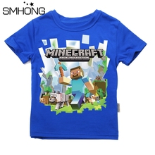 SMHONG Children Minecraft T shirt for Boys Clothing 2017 Brand Baby Boys Summer Tops Tee Shirt Cotton T-shirt Kids Clothes