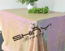 50''*72'' Intrigue Pink Sequin Tablecloth, Choose Your Size, Sequin Table Cloth Sparkly Pink Christmas Bling Linens Tablecloth