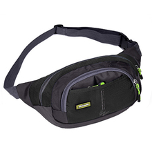 2017 Waterproof Nylon Unisex Waist Bag Fanny Pack Fashion Men and Women Military Hip Package for iphone Wallet Belt Bag