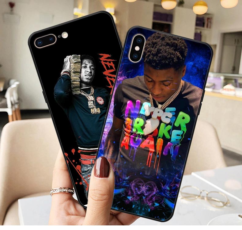 Broke Again Nba Youngboy 38 Baby Rap Hip Hop Music Print Soft silicone Phone Case For iphone XS Max XR X 5 5s SE 6 6s 7 8 plus(China)