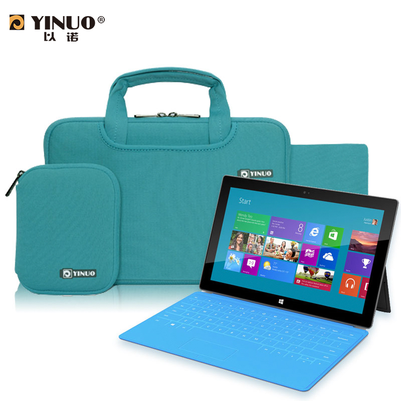 YINUO 12 13 Laptop Bag Sleeve with Accessory Bags Notebook Men Women Casual Nylon Business handbag for surface pro 2/3 Macbook<br><br>Aliexpress