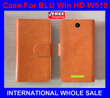 In Stock New 2016 items Factory Price Flip Leather Case Exclusive Flip Cover For BLU Win HD W510 case +tracking number(China)