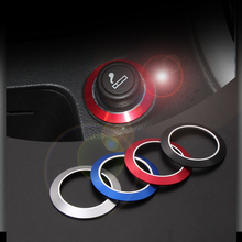 4 color Aluminum Alloy cigarette lighter decoration trim ring stickers auto accessories For Chevrolet Cruze Opel Mokka ASTRA J(China)
