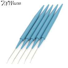 5Pcs Plastic Handle Metal Crochet Hooks Needles Knit Weave Craft Yarn Sewing Crochet Hooks Knitting Needles DIY Crafts Tools