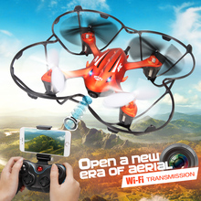 2016 Newest! Mini Drone H6W Real Time Video FPV Quadcopte RC Toys Dron With 2MP Hd Wifi Camera RC Helicopter Vs MJX X600(China)
