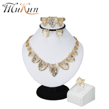 MuKun African Beads Jewelry Sets Dubai Bridal For Women Wedding Indian Nigerian Beads Fashion Jewelry set Trendy Vintage Costume(China)