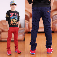 boys casual pants 2017 designer brand kids skinny pants soild all-match british style fashion trousers for children pants 3-16T(China)
