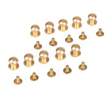 10pcs 5/6/7/8/9/10mm Solid Brass Belt Bag Screw Rivet Knob Round Button Chicago Screw In Button Studs Leather Craft Accessories