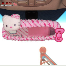 2016 New Condition Cute Car Styling Internal Mirror Cover Hello Kitty Car Accessories Rear View Mirror Cover for Universal Car