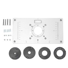 Insert table promotion shop for promotional insert table on 1 set router table insert plate 700c aluminum router table insert plate 4 rings screws for woodworking benches keyboard keysfo Choice Image