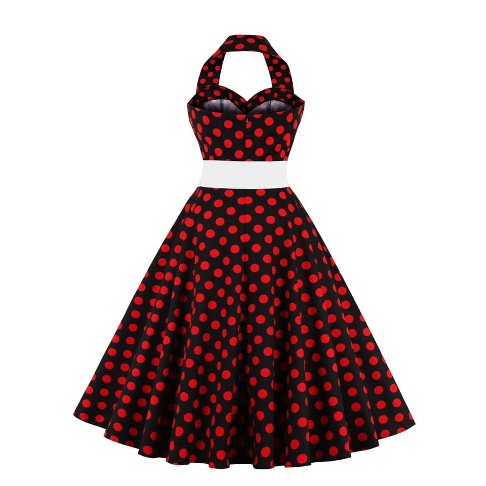 Vintage Dress Women S-4XL Plus Size Formal Prom Party Dress Sashes Draped Swing Dress Sleeveless Halter Summer Dresses Female