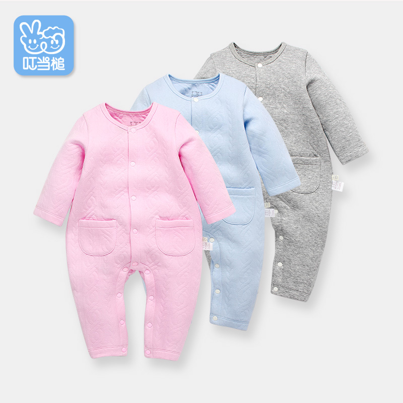 Dinstry spring and autumn baby romper newborn baby romper baby pajamas clothes<br>