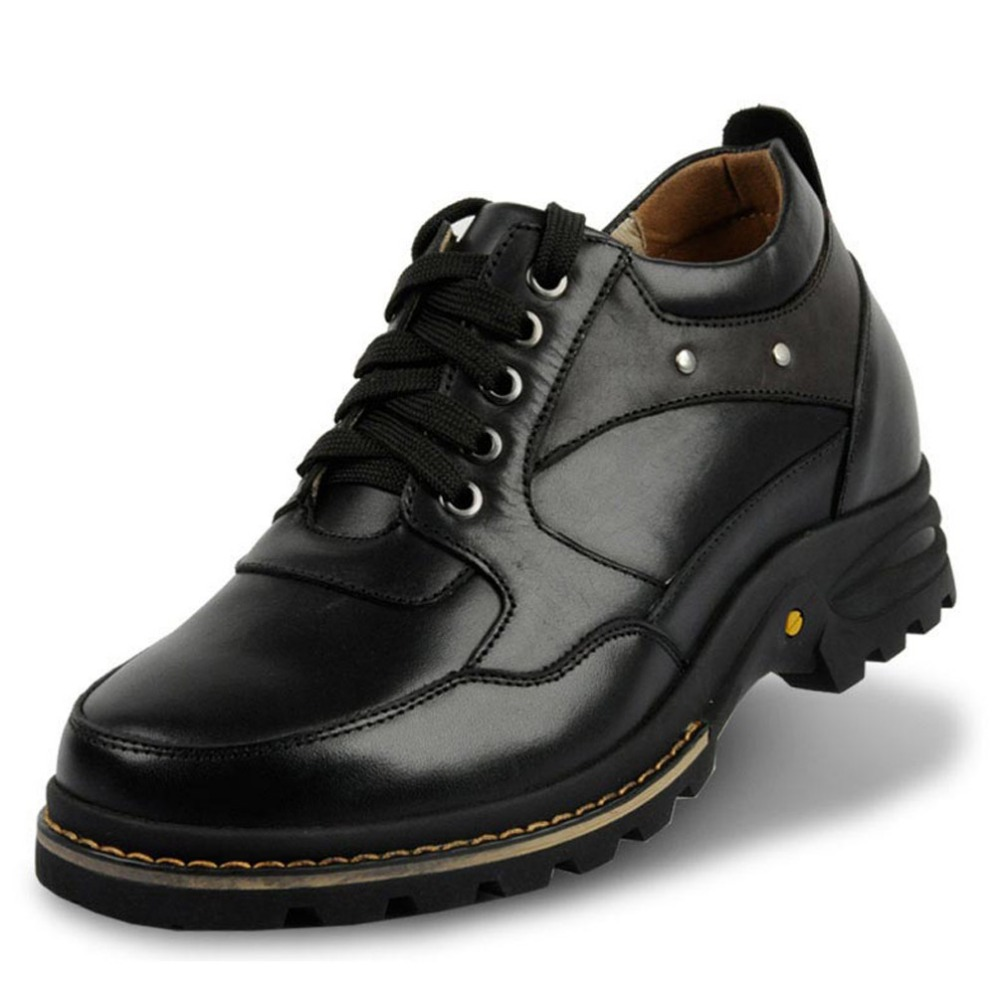 Elevator Shoes Extra Height Increasing Elevated Leather Motorcycle Shoes / Boots for Fashion Adult Men,Heightening 9CM taller<br><br>Aliexpress