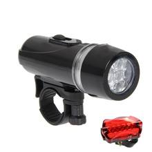 Bicycle Lights Set Ultra Bright 5 LED Bike Front Light & 5 LED Butterfly warning Rear Light
