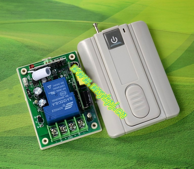 220V 30A high power relay ultralarge ultra-thin with base plate one button remote control<br><br>Aliexpress