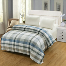 100% cotton duvet cover twin full queen king size blue striped cartoon red plaid gray quilt cover red duvet covers double size(China)