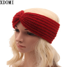 hot sale winter knit headband for women headwear good quality girls head band crochet hairband warm head wrap 9colors(China)