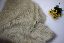 Free Shipping khaki thickening 8cm long pile Faux Fur Fabric yard available,140*50cm  fur textile cloth free shipping