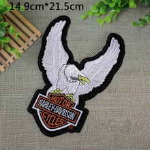 Motorcycle Badge USA Flag Harley Eagle embroidered Iron On Patches garment bag badge Appliques DIY accessory 3pcs/lot
