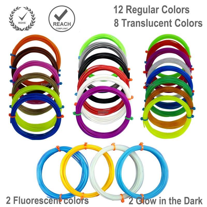 3D Pen filaments 30 colors -1.75mm PLA filament at 600 Linear Feet total<br><br>Aliexpress